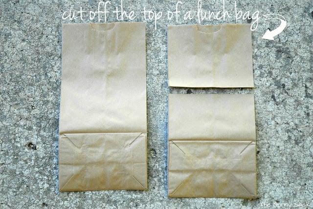 cut lunch bag