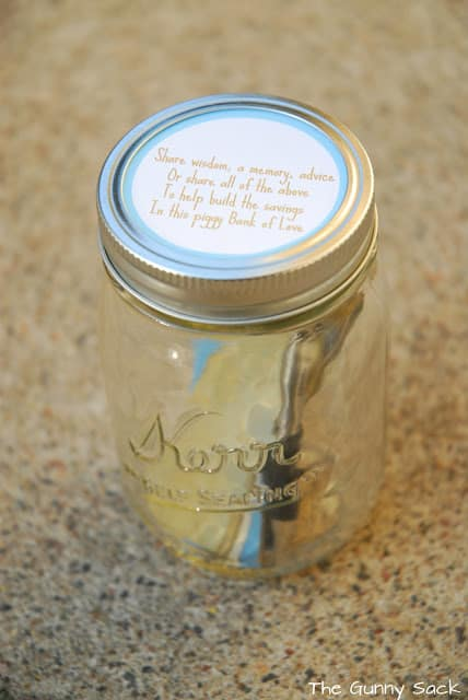 mason jar with label