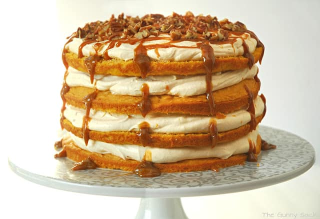 caked drizzled with caramel