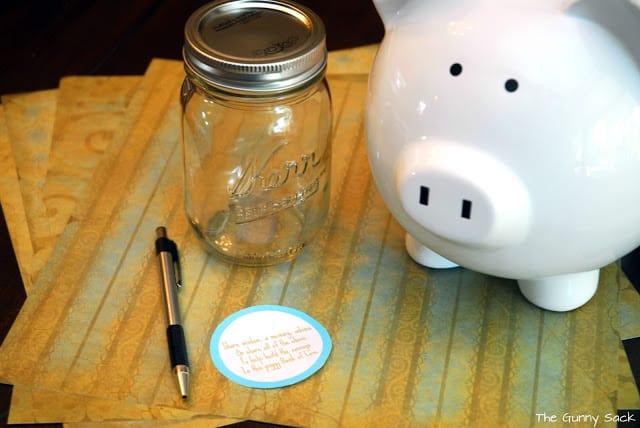 piggy bank of love supplies