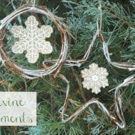 DIY Grapevine Snowflake Ornaments