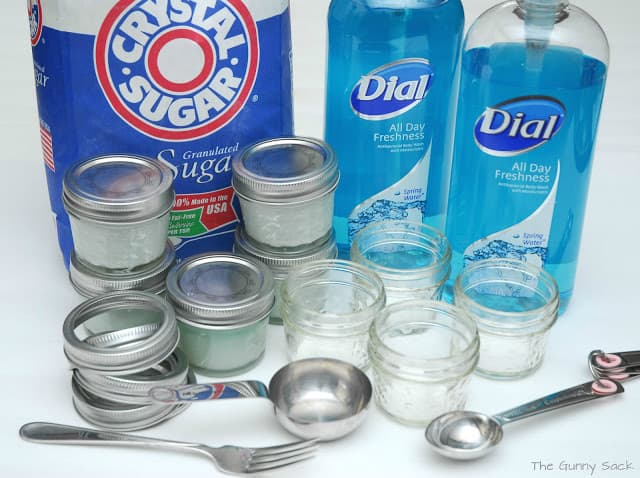 sugar hand scrub supplies