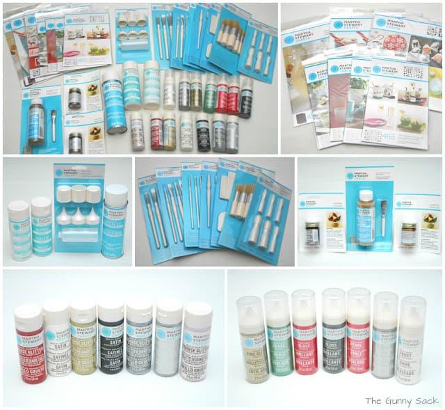 craft supplies collage