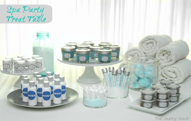 spa party table
