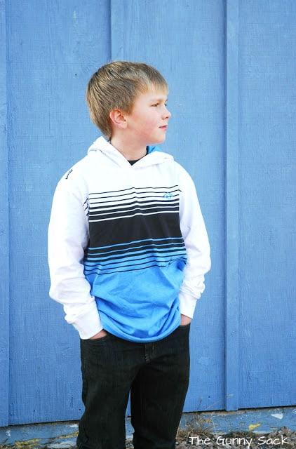 boy wearing striped shirt