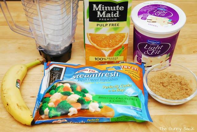 veggie smoothie ingredients