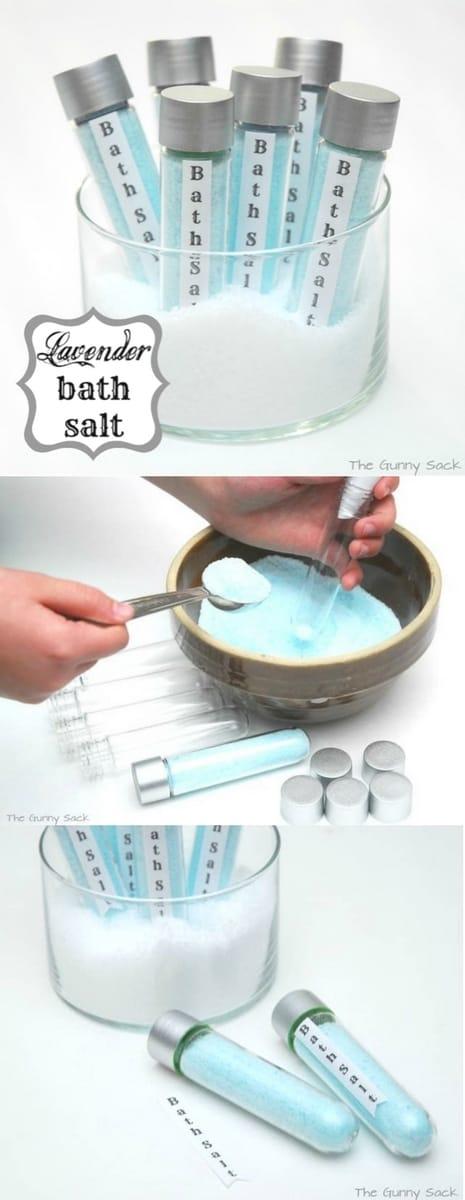 lavender bath salts pin collage