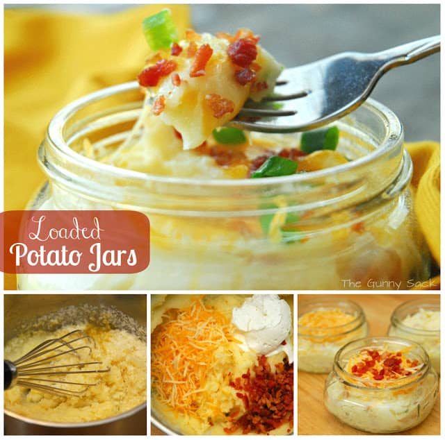 Loaded Potato Jars collage
