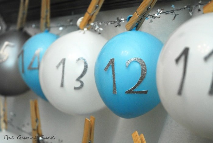 balloons with numbers attached