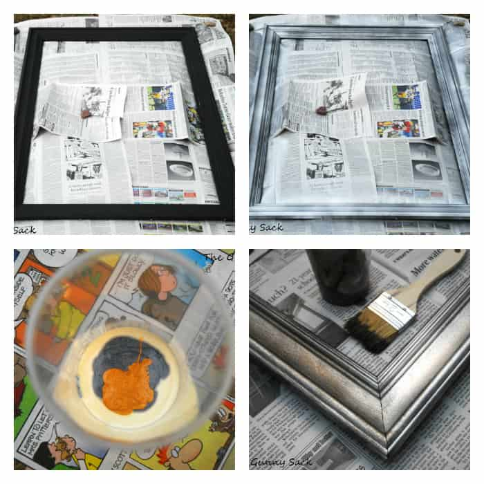 painting picture frame collage