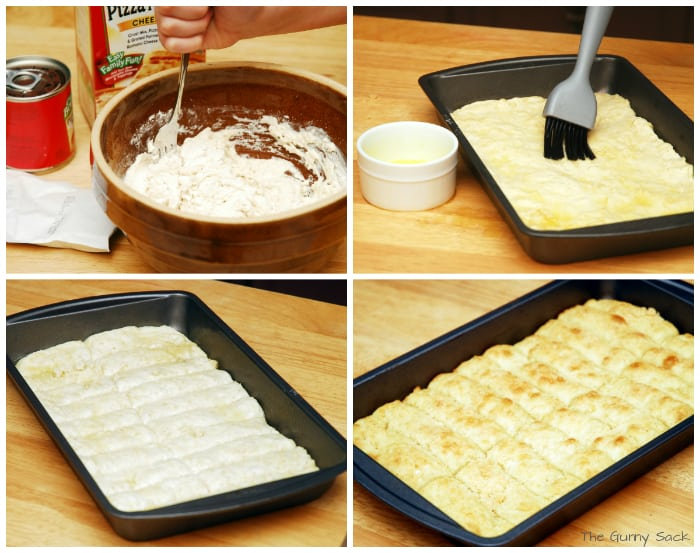 making breadsticks collage