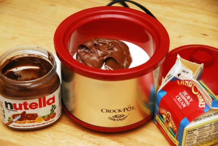 nutella fondue ingredients