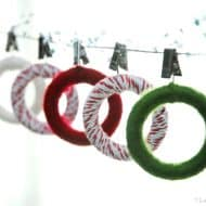 Mini Yarn Wreaths
