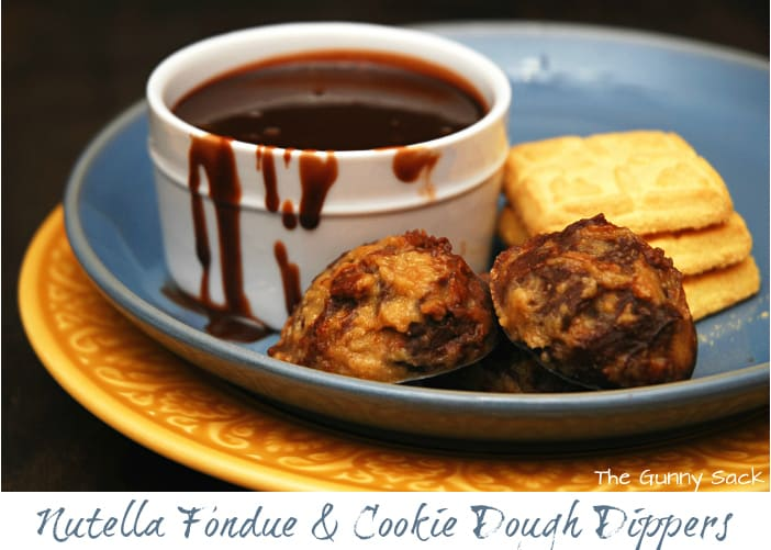 nutella fondue and cookie dough dippers