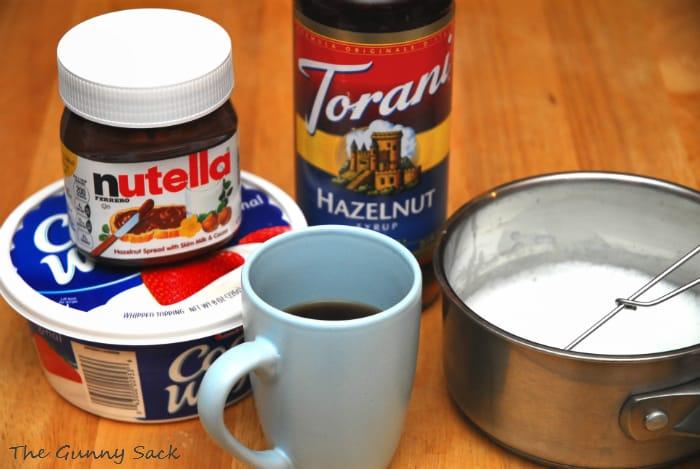 nutella latte ingredients