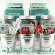 Craft Organization: Buckets, Bins & Washi Tape Labels