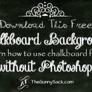 Chalkboard Image Background and Chalkboard Lettering