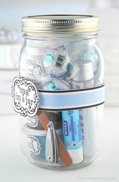 ribbon on mason jar