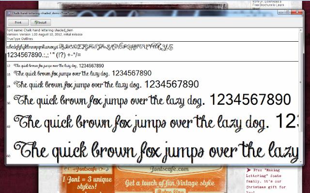 choose install font