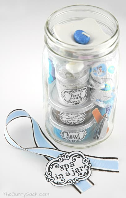 mason jar ribbon