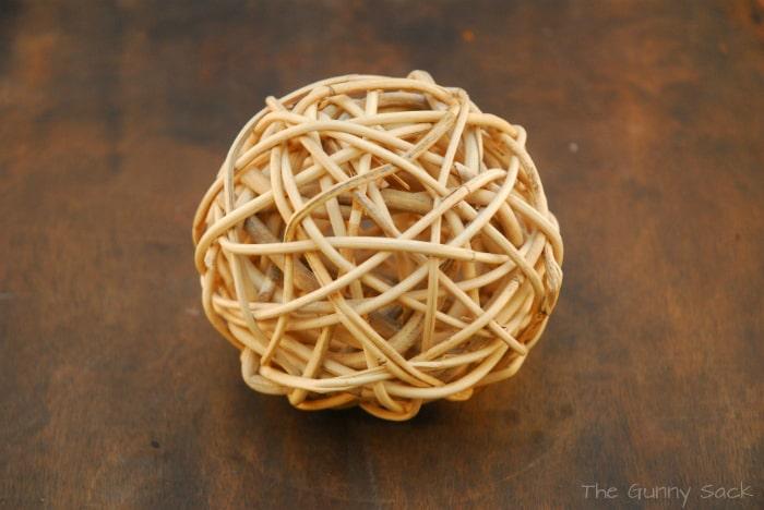 wicker ball