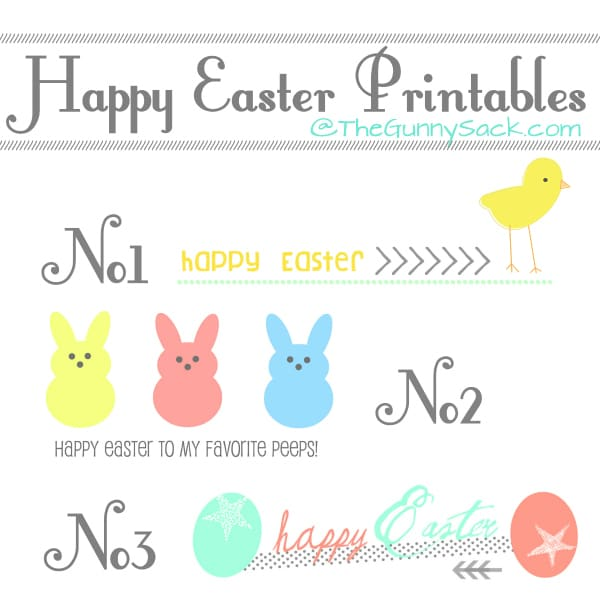 Happy Easter Printables For Cards & Projects