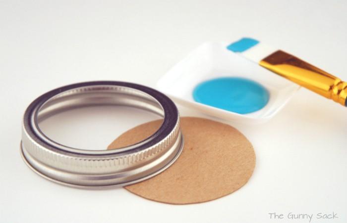 Paint Mason Jar Lid