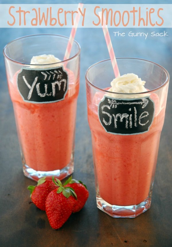 Strawberries Smoothies Recipe