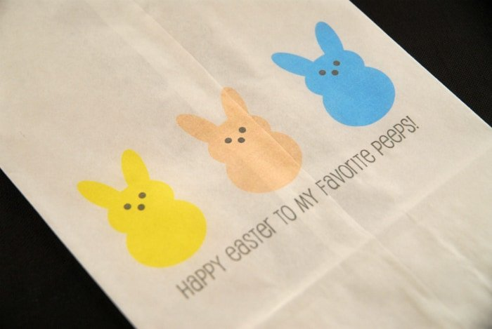 bunnies printed on paper