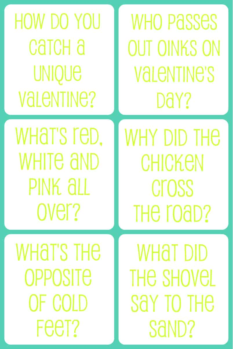 <b>Valentine&#39;s</b> Day Printable <b>Jokes</b> For Kids - The Gunny Sack