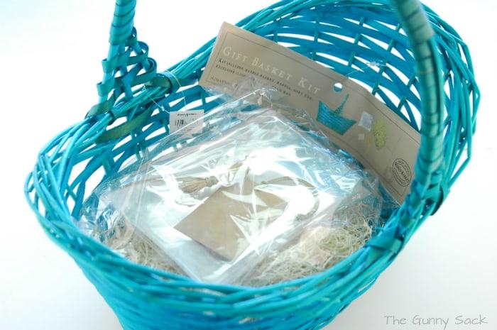Aqua Easter Basket