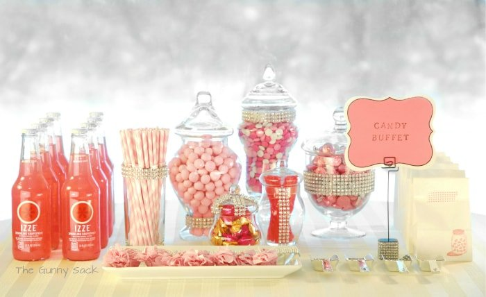 pink candy bar buffet