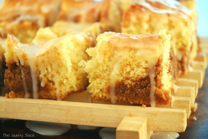 Cinnamon Coffee Cake Frosted