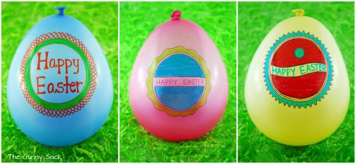 Happy Easter Balloon Pinata Trio