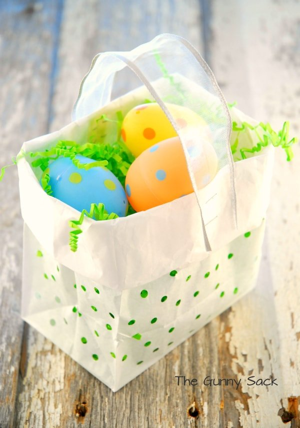 Holey Easter Basket Treat Bag