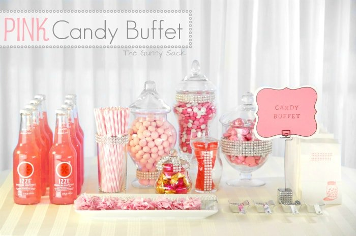 Pink Candy Buffet Wedding Bar