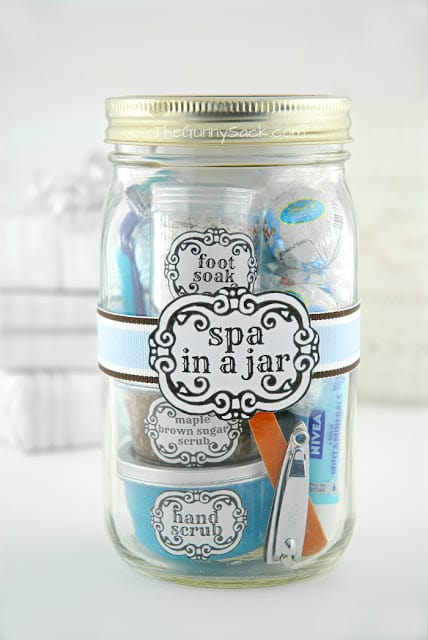 Spa In A Jar DIY Valentine's Day Gift In A Jar