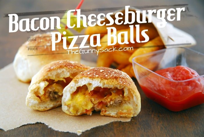 Bacon Cheeseburger Pizza Balls