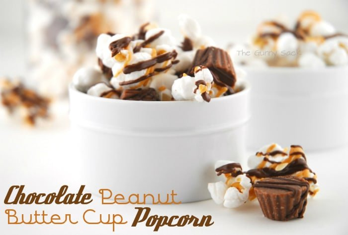 Chocolate Peanut Butter Cup Popcorn