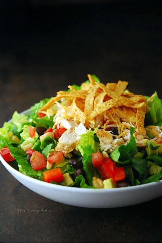 Chicken Fajita Southwest Salad The Gunny Sack