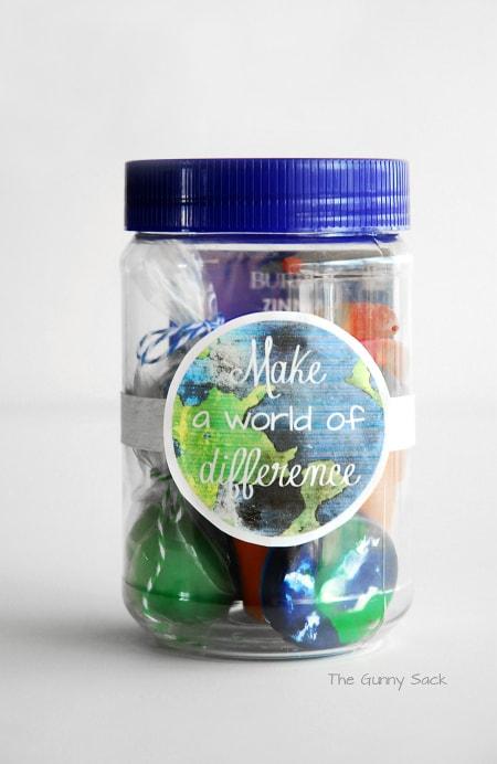 Earth Day Mason Jar