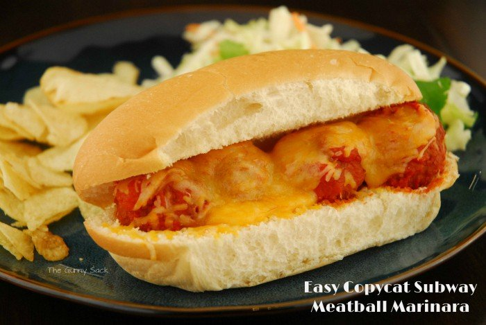 Easy Copycat Subway Meatball Marinara