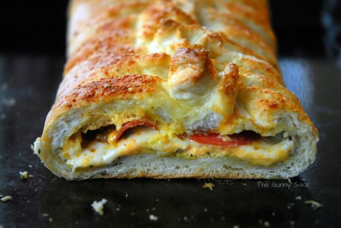 Inside Stromboli Pizza Loaf