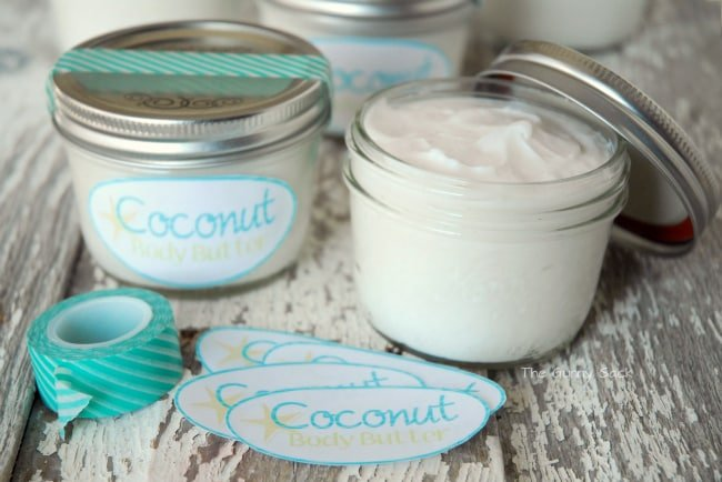 Coconut Body Butter Recipe ~ A Gift In A Jar