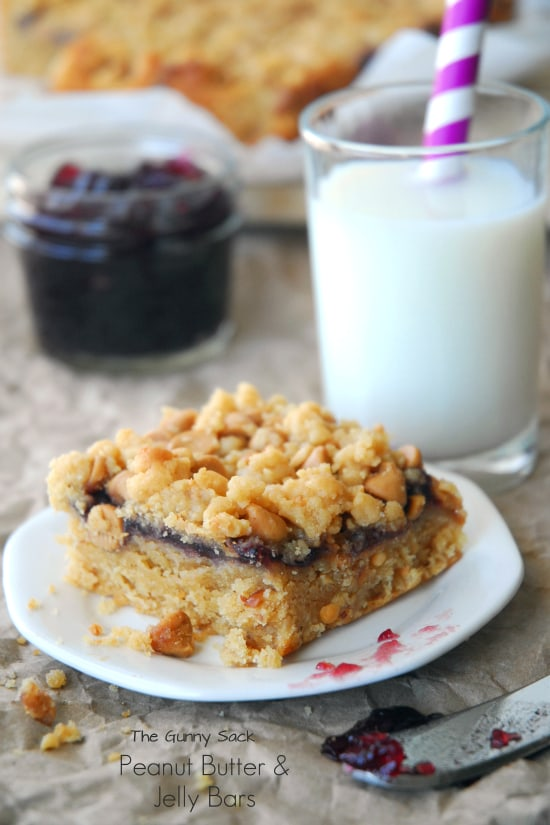 Peanut Butter and Jelly Bars Recipe - The Gunny Sack