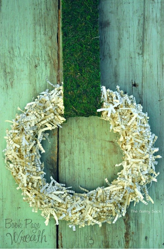 Book Page Wreath Tutorial