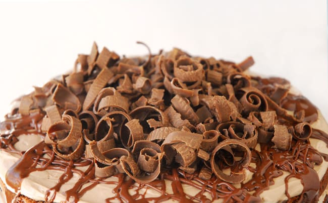 Chocolate Curls On Cake