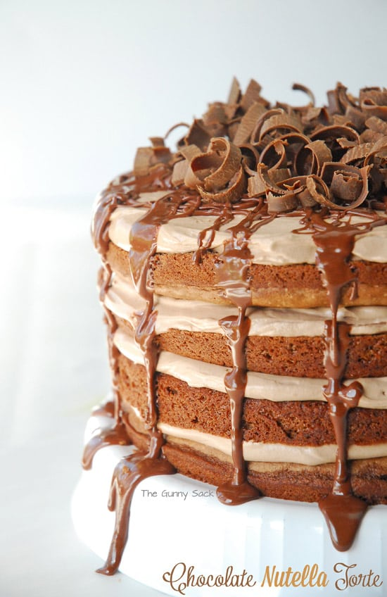 Nutella Chocolate Torte ~ Layer Cake with Nutella Mousse