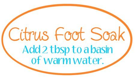 Citrus Foot Soak