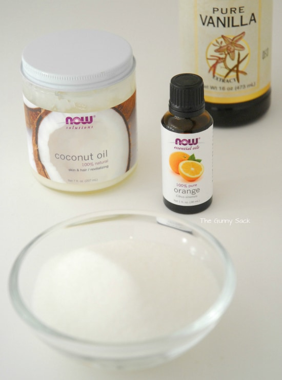 Coconut Oil Sugar Scrub Ingredients